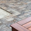 Patio, deck and gabions